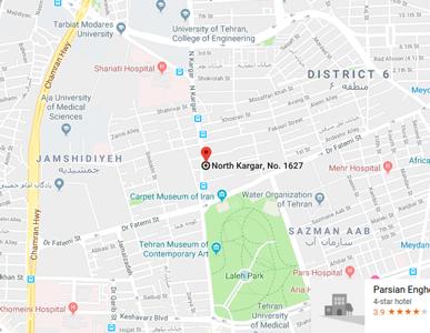 نقشه آدرس مطب گاندی